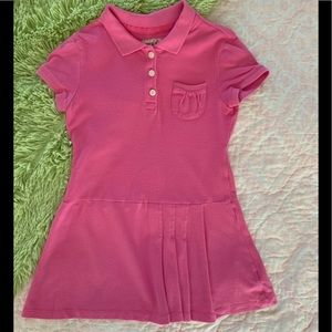 Girls Old Navy Pink Short Sleeve Polo Dress Small